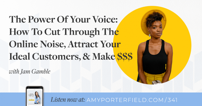 #341: The Power Of Your Voice: How To Cut Through The Online Noise, Attract Your Ideal Customers, & Make $$$ – Amy Porterfield