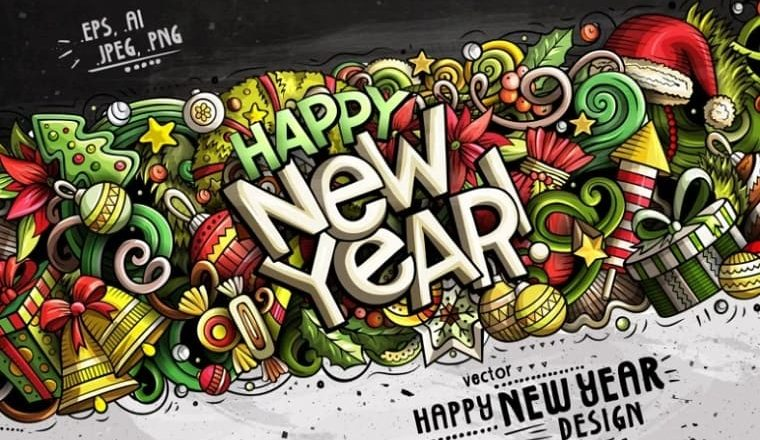 Happy New Year Graphics for 2021 ❄ : PSD Templates, Illustrations, etc.