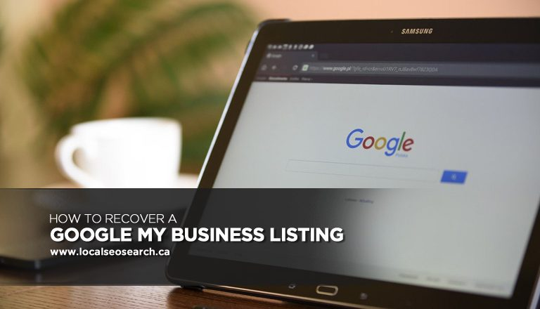 How to Recover a Google My Business Listing