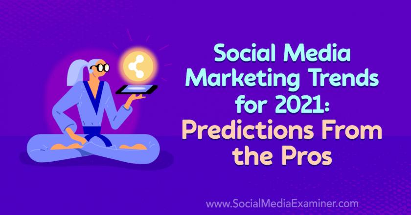 Social Media Marketing Trends for 2021: Predictions From the Pros : Social Media Examiner
