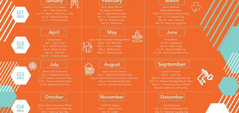The Marketing Calendar for 2021 [Infographic]