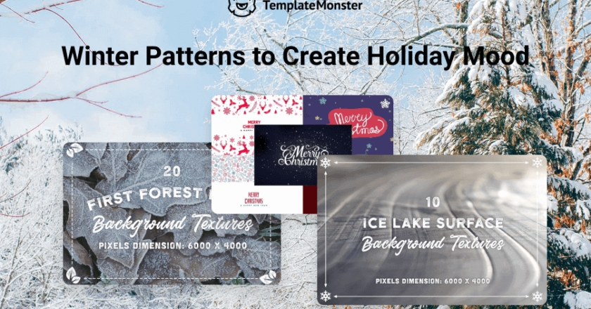 Stylish Winter Backgrounds For Your Frosty Designs
