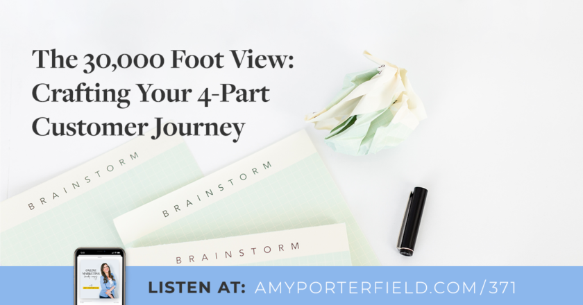 #371: The 30,000 Foot View: Crafting Your 4-Part Customer Journey – Amy Porterfield