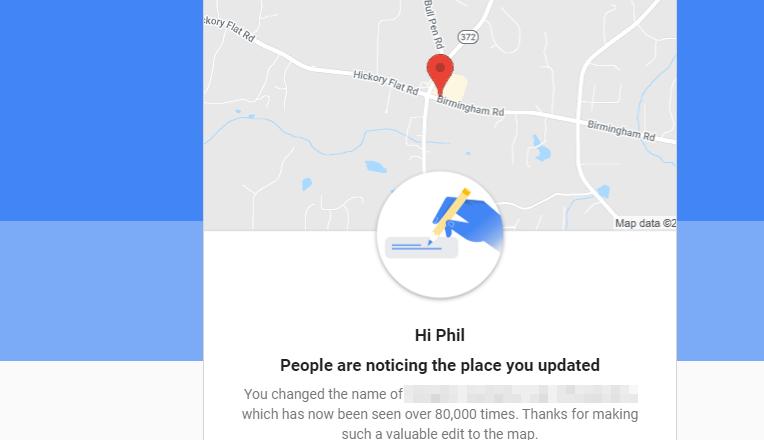 Google Starts Cheering Anti-Spam Edits in Google Maps