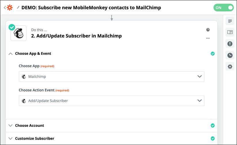 update subscriber in mailchimp