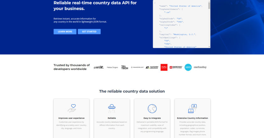 countrylayer – The Must-Have API for Any Website